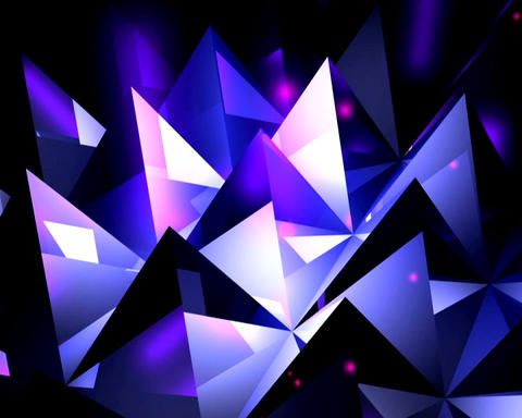 crystal pyramids Animation