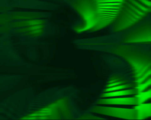 green tunnel Stock Video Footage