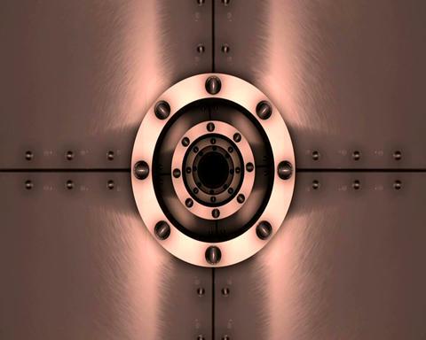 metallic hatch Stock Video Footage