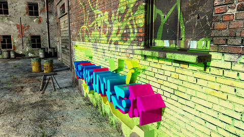 graffiti Stock Video Footage