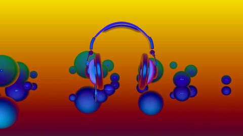 headphones Stock Video Footage