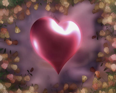 flowered heart Animation