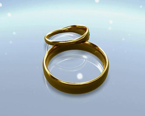 simple rings 2 Stock Video Footage
