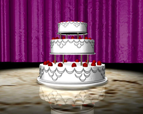 wedding cake Animation