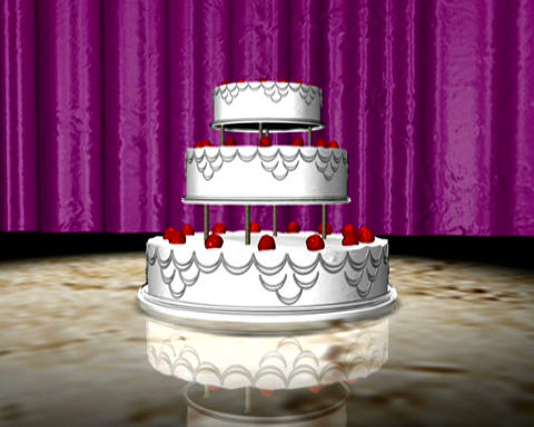 wedding cake Stock Video Footage