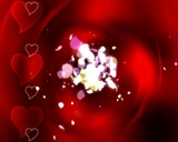 Hearts And Petals stock footage