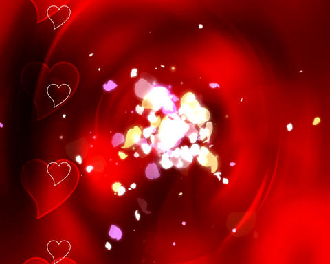 hearts and petals Animation