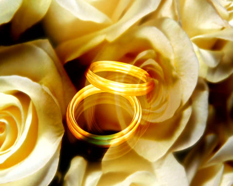 ring and flowers 2 Stock Video Footage