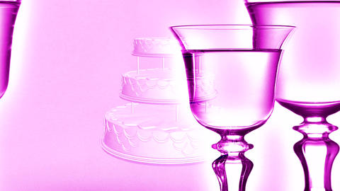 champagne glasses Stock Video Footage