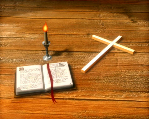 bible and cross Animation