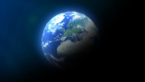 Earth / 3D Animation of the Earth With Lensflare,  Animation