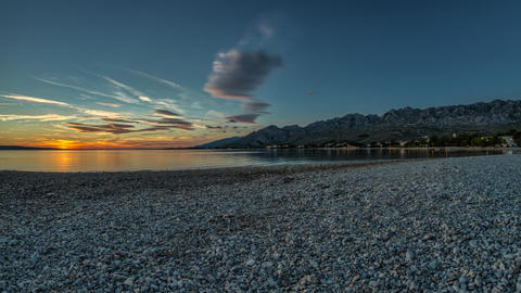 Beach Sunset, Timelapse, Croatia Footage
