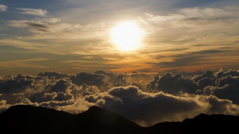 Haleakala Clouds, Timelapse, Maui, Hawaii, USA Footage