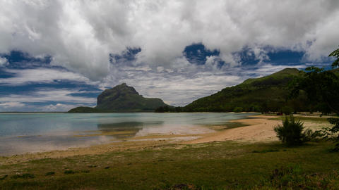 Beach Timelapse At Le Morne, Mauritius stock footage