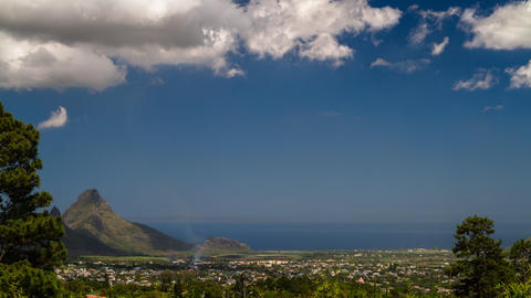 Landscape Tilt Timelapse, Mauritius Curepipe Footage