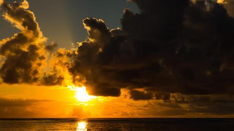 Beach Sunset Timelapse, Mauritius Footage