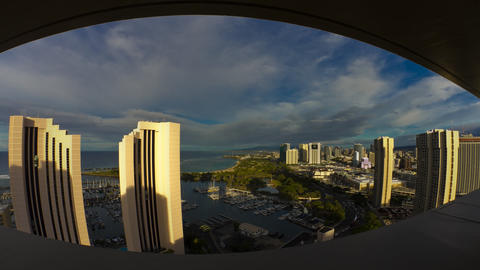 City View, Timelapse, Honolulu, Oahu, Hawaii, USA Footage