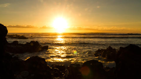 Gorgeous Sunrise Timelapse at La Reunion Filmmaterial