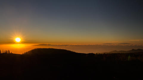 Timelapse, Teide Sunset, Tenerife Footage