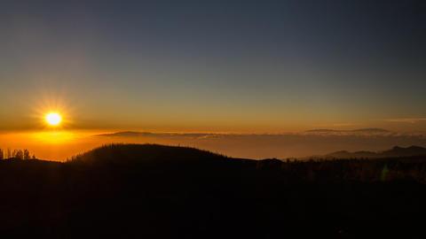 Timelapse, Teide Sunset, Tenerife Filmmaterial