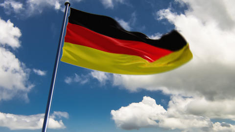 Germany Flag, HQ animated Animation