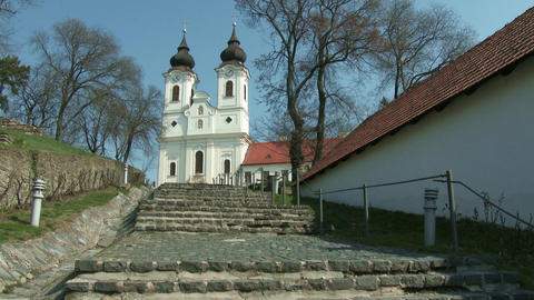 4 K Tihany Hungary Abbey Benedictine Monastery 1 Footage