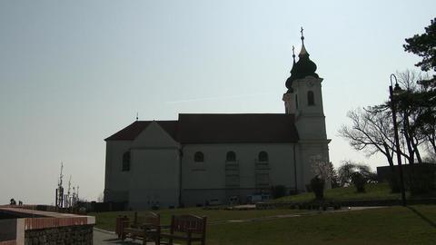 4 K Tihany Hungary Abbey Benedictine Monastery 3 Footage