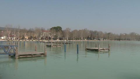Balatonfured Hungary Pier 3 stock footage