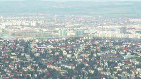 Early Spring Budapest Hungary Aerial 3 Footage