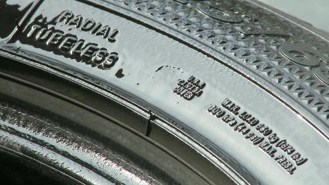 Maintaining Tire For Storage 1 stock footage