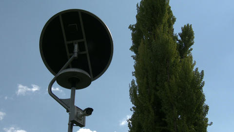 Solar Panel Light And Street View Camera 2 stock footage
