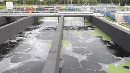 Sewage Treatment Plant, Waste Water Treatment 6 stock footage