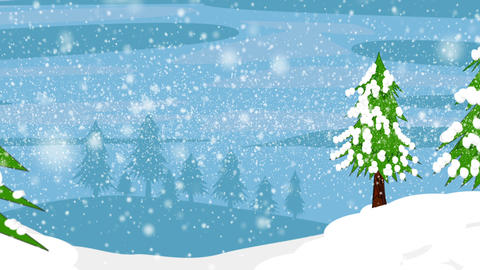 Winter Background Track Out stock footage