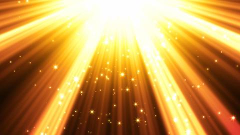 Golden Light Rays Background Animation