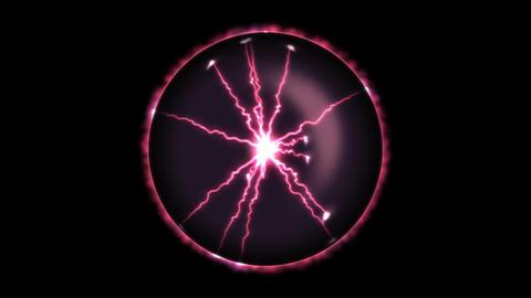 Lightning Orb - Loop Red Animation