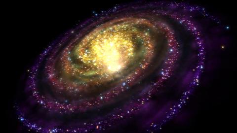 Avstract Rotating Galaxy - Loop Animation