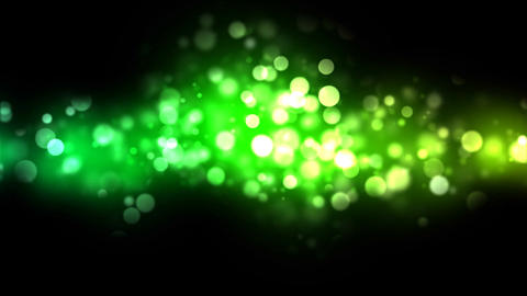 Abstract Particle Background - Loop Green Animation