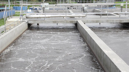 Sewage treatment plant, Waste water treatment 8 Footage
