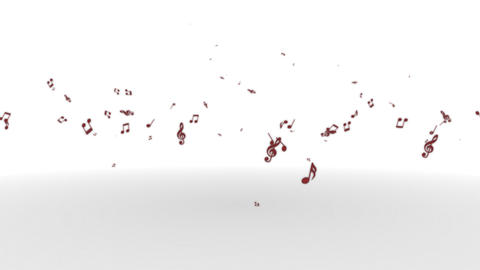 Musicalnote rises Wine, Stock Animation