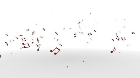 Musicalnote rises Wine Animation
