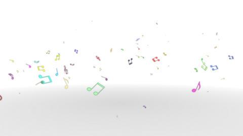 Musicalnote rises Rainbow Animation