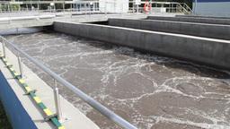 Sewage treatment plant, Waste water treatment 12 Footage
