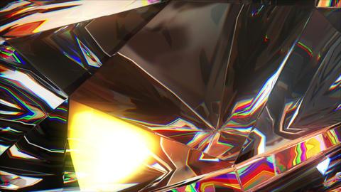 4k close-up slowly rotating diamond Animation