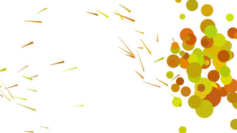 Abstract Paint Animation Yellow Animation
