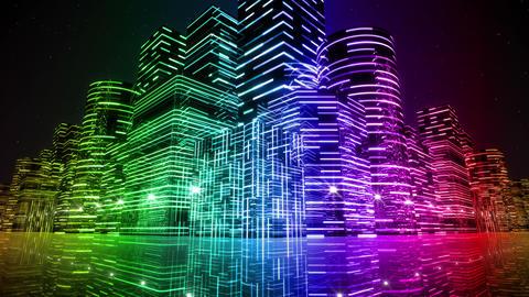 Neon Light City F 2 Aa 3 HD Animation