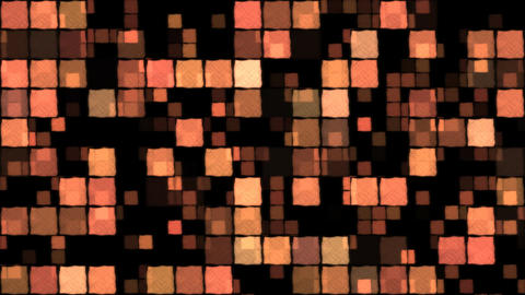 Glowing Squares Background - Loop Orange Animation