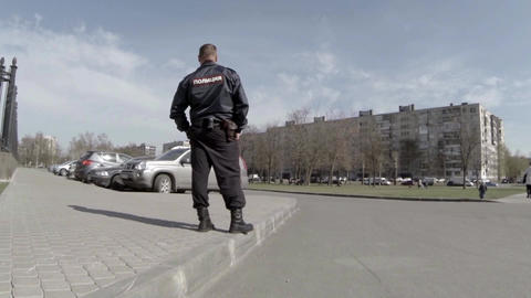 Policeman eyes of a child Footage