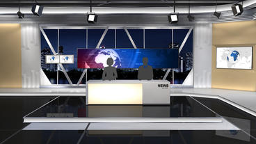 News Studio 100 stock footage