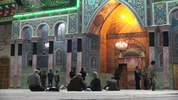 Hazrat-e Masumeh shrine in Qom, Iran Footage