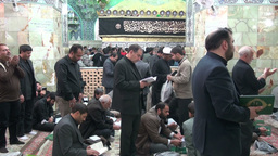 People mourn inside shrine in Qom, Iran Footage